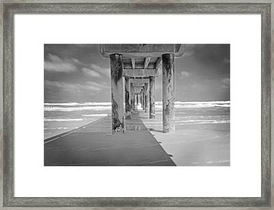 Beach Pier Framed Print by Steven Michael