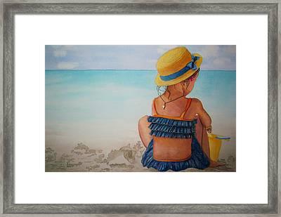 Beach Play 18 X 12 Framed Print