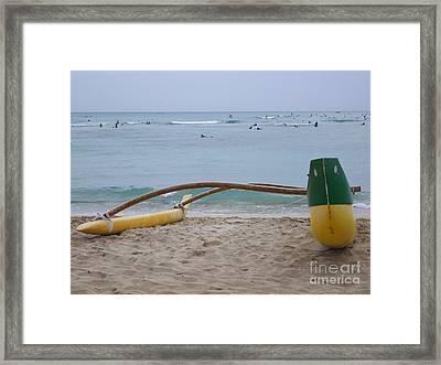 Beach Play Framed Print by Mary Deal