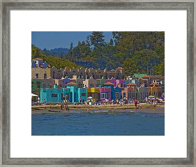 Framed Print featuring the photograph Beach Play by Tom Kelly