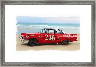 Beach Race Car 226 Framed Print