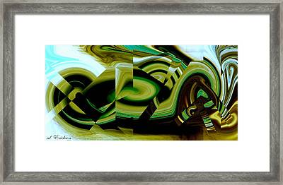 Framed Print featuring the digital art Beach Racer by Roy Erickson