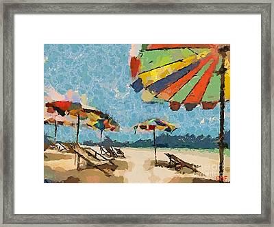 Beach Rainbows Framed Print by Dragica  Micki Fortuna