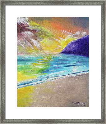 Beach Reflection Framed Print