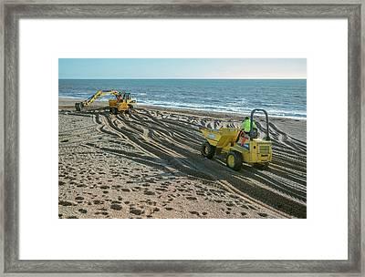 Beach Repair Framed Print by Robert Brook