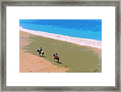 Beach Riders Framed Print