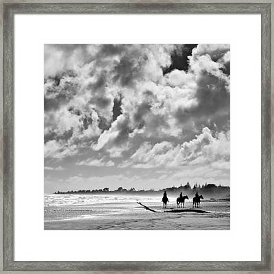 Beach Riders Framed Print