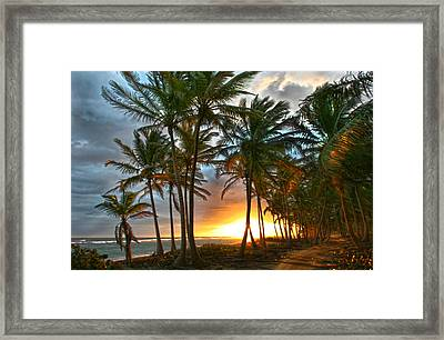 Beach Road Framed Print