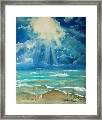 Beach Framed Print by Robin Maria Pedrero
