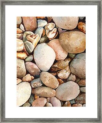 Beach Rocks Framed Print by Andrea Timm
