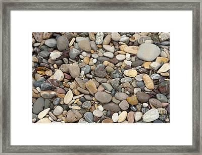 Beach Rocks Framed Print by Artist and Photographer Laura Wrede