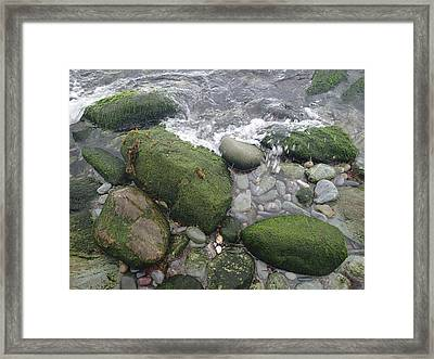 Beach Rocks Framed Print by Robert Nickologianis