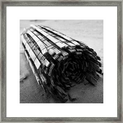 Beach Roll Framed Print