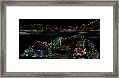 Beach Romance Man Ray Homage Framed Print by Brian King