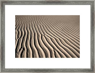 Beach Sand Ripples Framed Print