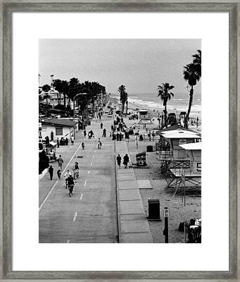Beach Scene Framed Print by Alex Snay
