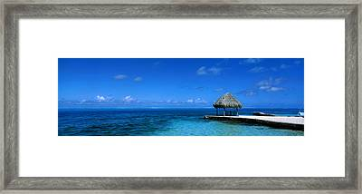 Beach Scene Bora Bora Island Polynesia Framed Print by Panoramic Images