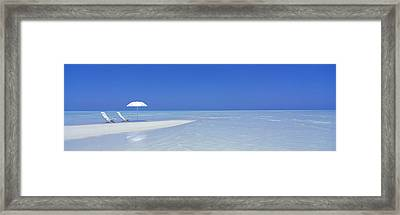 Beach Scene Digufinolhu Maldives Framed Print by Panoramic Images