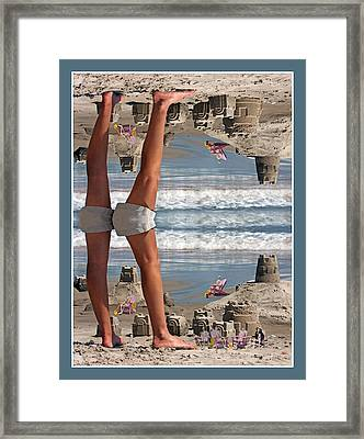 Beach Scene Framed Print by Betsy Knapp