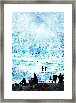 Beach Scene Expressions Framed Print