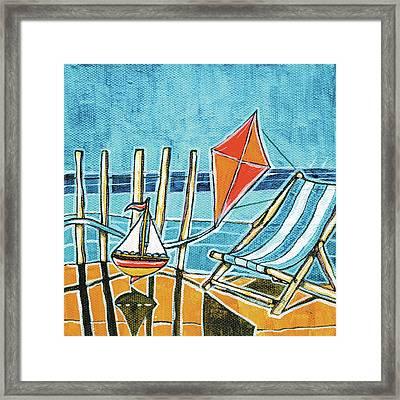 Beach Scene I Framed Print
