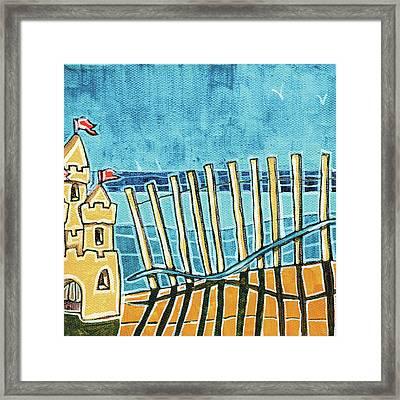 Beach Scene II Framed Print