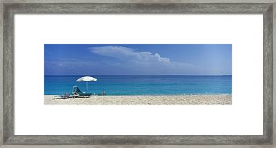 Beach Scene, Nassau, Bahamas Framed Print by Panoramic Images