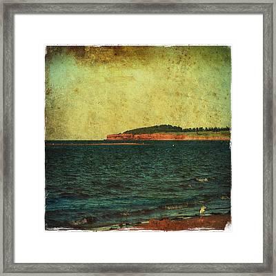 Beach Seascape Ocean Photograph Fine Art Print Framed Print by Laura Carter