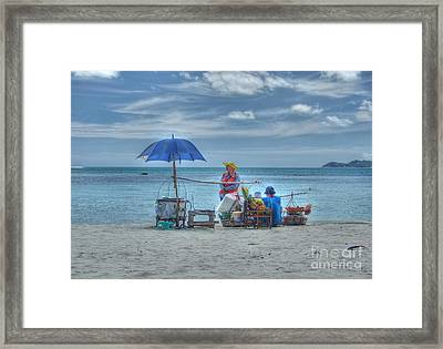 Beach Sellers Framed Print by Michelle Meenawong