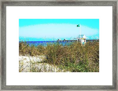 Beach Serenity Framed Print