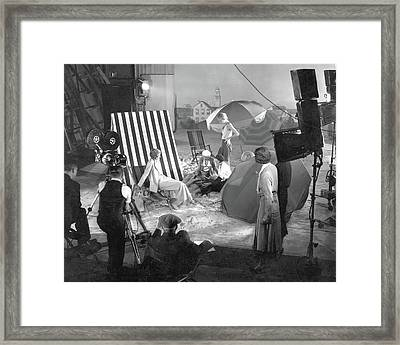 Beach Set For A Vogue Short Film Framed Print