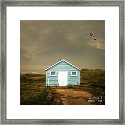 Beach Shack Square Framed Print by Edward Fielding