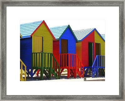 Beach Shacks Framed Print by Ramona Johnston