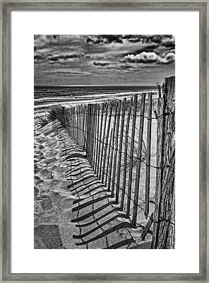 Beach Shadows Framed Print by Boyd Alexander
