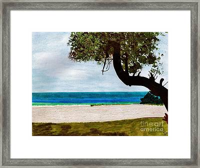 Framed Print featuring the drawing Beach Side by D Hackett