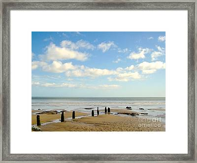 Framed Print featuring the photograph Beach Skies by Suzanne Oesterling