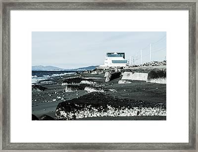 Beach Slabs Framed Print by Arlene Sundby