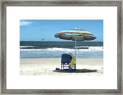 Beach Solitude Framed Print by Sandi OReilly