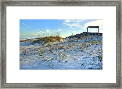 Beach Stairs Framed Print by Michelle Wiarda