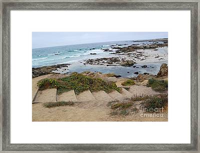 Framed Print featuring the photograph Descending To The Beach Monterey by Debra Thompson