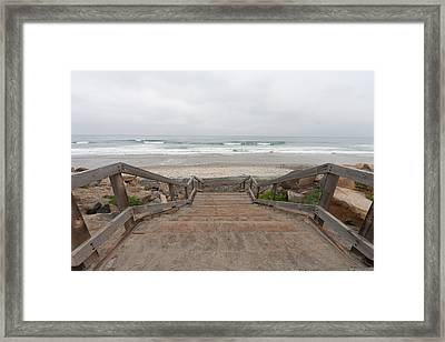 Beach Stairs Framed Print by Tanya Harrison