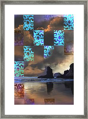Framed Print featuring the photograph Beach Stamped by Adria Trail