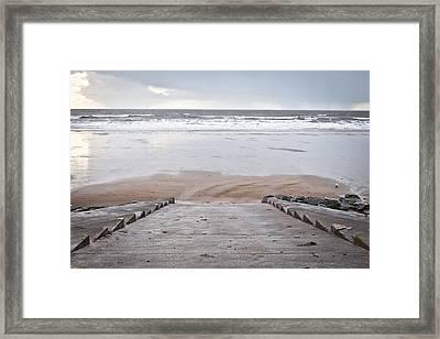Beach Steps Framed Print by Tom Gowanlock