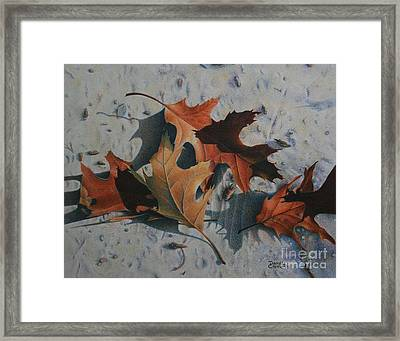 Framed Print featuring the painting Beach Still Life by Pamela Clements