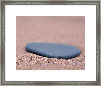 Beach Stone At Park Point Minnesota Framed Print