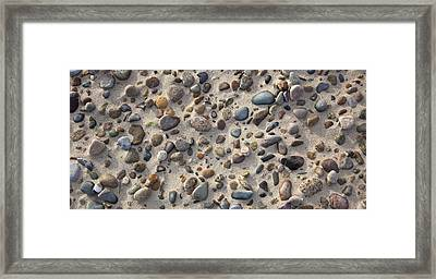 Beach Stones Framed Print