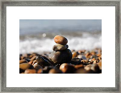 Beach Stones Framed Print by Ivelin Donchev