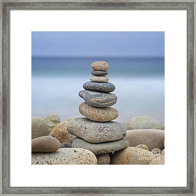 Beach Stones Framed Print by Katherine Gendreau