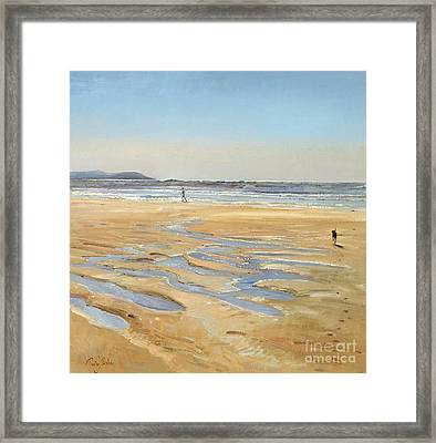 Beach Strollers  Framed Print by Timothy  Easton