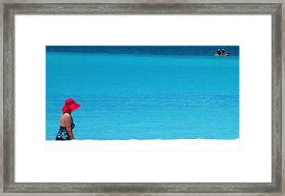 Beach Strolling Framed Print by Randall Weidner